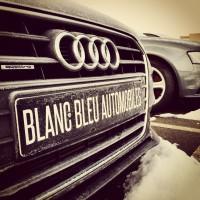 Logo Blanc Bleu Automobiles